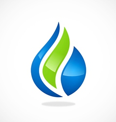 eco water drop biology abstract logo vector image