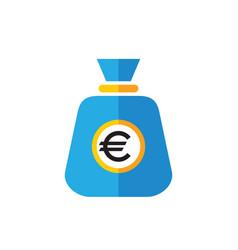 euro bag - flat style icon design sack money vector image