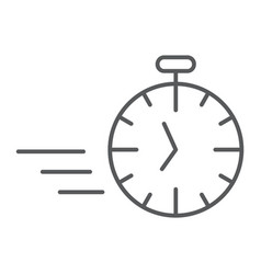 fast stopwatch thin line icon time and speed vector image