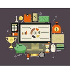 Finance and money items collection vector