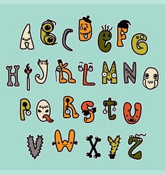 freaky characters full alphabet vector image
