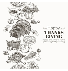 Hand drawn thanksgiving vector