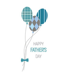 Happy fathers day balloons vector