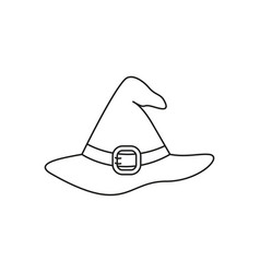 hat of icon helloween witchcraft the evil vector image