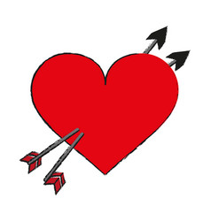 Heart draw vector