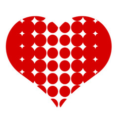 heart with dots icon simple style vector image