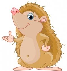 hedgehog presenting vector image