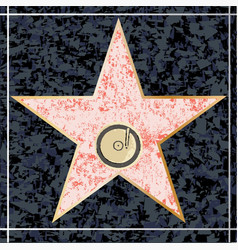 Hollywood music walk fame vector