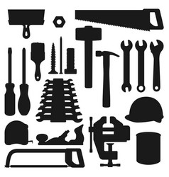 home repair remodeling and renovation work tools vector image