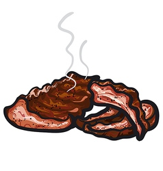 Hot spareribs vector