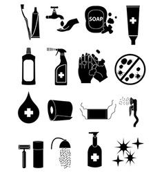 hygiene healthcare icons set vector image