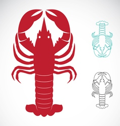 Image of an lobster vector