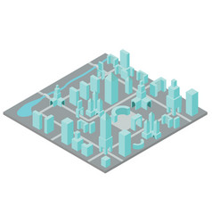 isometric town constructor set for creating your vector image