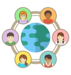 Kids around world vector