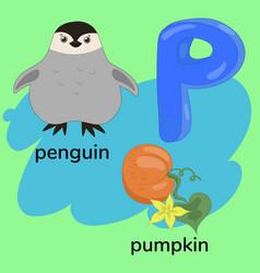 Letter p child s alphabet graphics vector