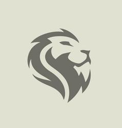 Lion face icon vector