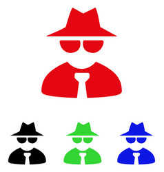 Mafia boss icon vector