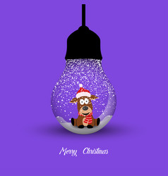 merry christmas creative design with hanging vector image