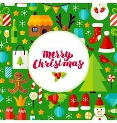 Merry christmas greeting poster vector