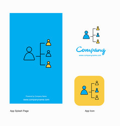 networking company logo app icon and splash page vector image