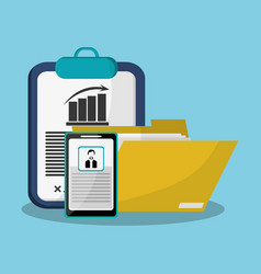 Office gadgets related icons image vector