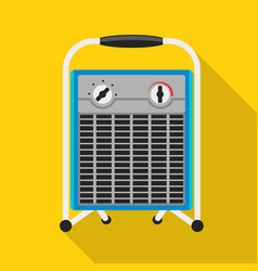 old fan heater icon flat style vector image