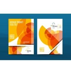 Orange annual report A4 cover Brochure template vector