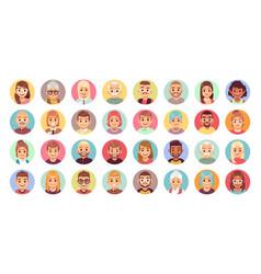 people cartoon avatars diversity office vector image