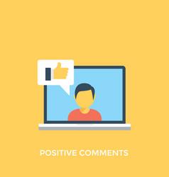 Positive comments vector