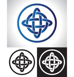 Quarternary celtic knot design vector