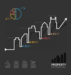 Real estate business diagram line style template vector