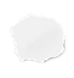 Ripped paper scrap solated on white background vector