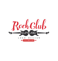 rock club logo 18 april 2018 design element vector image