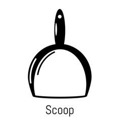 scoop cleaning icon simple black style vector image