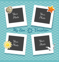 sea vacation photo collage vector image