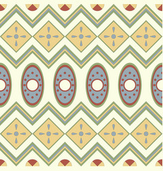 seamless pattern with geometrical motives vector image