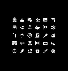 Set simple icons columbus day vector