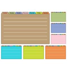 Seven Calendar Sheets vector image