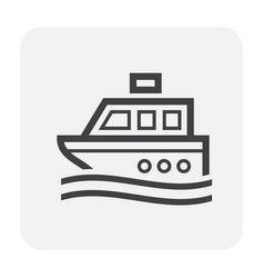 ship icon black vector image