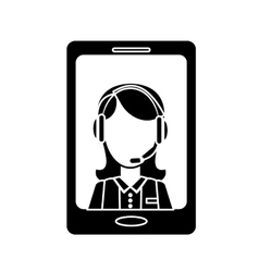 Smartphone technical services icon image vector