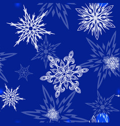 snowflakes icons frozen frost star vector image