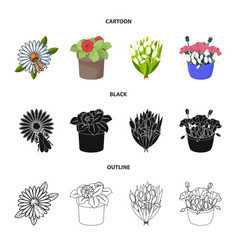 Spring and wreath symbol vector