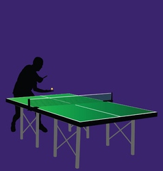 table tennis serving vector image