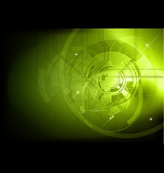 tech background green dark vector image