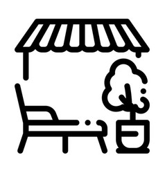Terrace on street icon outline vector