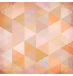 Textured vintage beige triangles background vector image