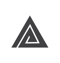 triangle letter a vector image