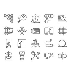 ux icon set vector image