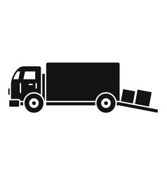 Warehouse truck icon simple style vector