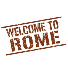 Welcome to rome stamp vector